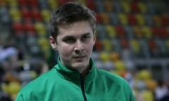 Trener Michał Bąkiewicz (AZS)