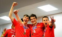 Union Waldviertel Austria (2016) od lewej David Michel, Dawid Siwczyk, Maciej Madej