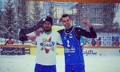 Michał Matyja, snow volley, śnieg